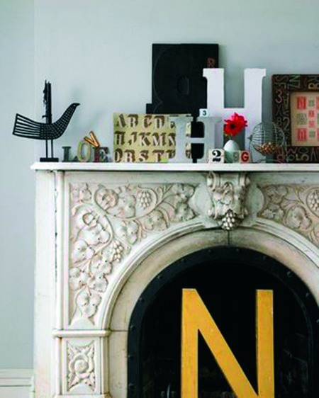 Letters on mantel